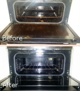 Before and After Oven Cleaning